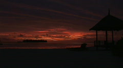 Beautiful Tropical Sunset dramatic sky Stock Footage