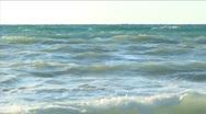Stock Video Footage of Beautiful waves around coast. Windy