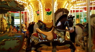 Stock Video Footage of Carousel Merry-Go-Round