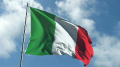Flag of Italy - Waving Over Time Laps Sky Stock Footage
