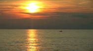 Stock Video Footage of Beautiful sunset on the black sea.