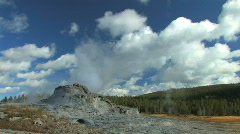Yellowstone Geyser Zoom In Stock Footage