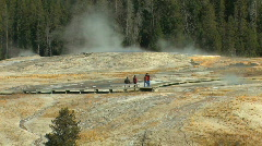 Boardwalk by Geyser Zoom Out Stock Footage