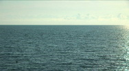 Stock Video Footage of Panorama of the sea during a sunset