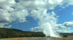 Stock Video Footage of Old Faithful Zoom In - Yellowstone National Park