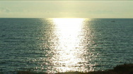 Stock Video Footage of Beautiful sea on a sunset for a background