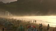 Golden beach Stock Footage