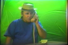 Interesting phone call Stock Footage