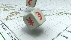 Forex dice HD. dollar & euro - stock footage