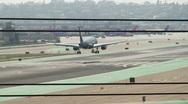 Airplane Landing HD Stock Footage