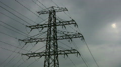 Electrical pylon. Timelapse. Stock Footage