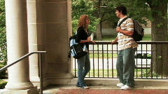 Students on Campus 800 Stock Footage