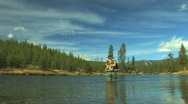 Woman Flyfishing in Montana Stock Footage