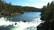Yellowstone River Tilt Down Stock Footage
