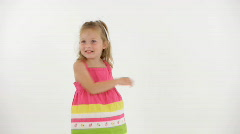 Dancing little girl Stock Footage