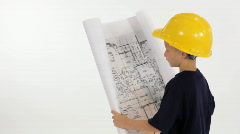 Little contractor Stock Footage