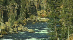 River in Rocky Canyon Zoom Out Stock Footage