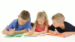 Kids coloring Stock Footage