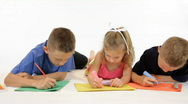 Kids coloring dolly Stock Footage