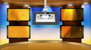 HD Television Background Animation News Studio Stock Footage