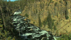 River in Rocky Canyon Zoom In Stock Footage