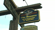 Stock Video Footage of The Bunnery Sign Jackson Wyoming Zoom In