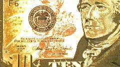 Money Dollars $1 $5 $10 $20 Dinar Macro Footage Stock Footage