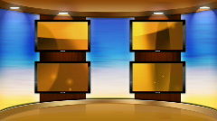 HD television studio animation motion backgrounds loop - stock footage