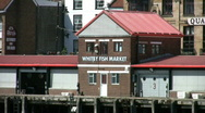 Stock Video Footage of Fish Market at the port of Whitby North Yorkshire England