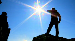 Reaching the Heights - stock footage