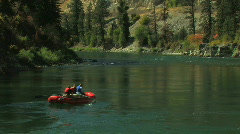 Raft on Quiet River Stock Footage