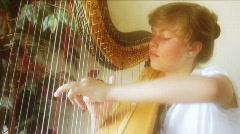 Beautiful Harp - stock footage