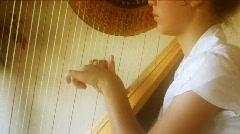 Beautiful Harp 3 - stock footage