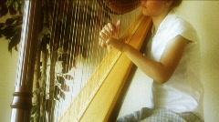 Beautiful Harp 5 - stock footage