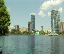 City across the lake lock down  Stock Footage
