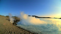 Geothermal Hot Springs Stock Footage