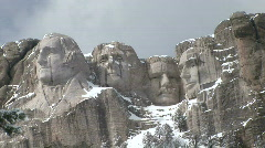 P00350 Mount Rushmore in Winter Stock Footage