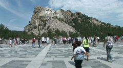 P00354 Mount Rushmore National Memorial and Visitors Stock Footage