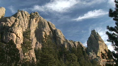 P00356 Granite Outcroppings at Mount Rushmore National Memorial Stock Footage