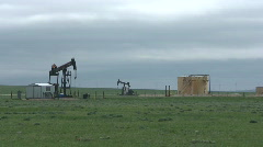 P00391 Oil Wells on Prairie Stock Footage