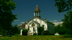 Historic wedding chapel Stock Footage