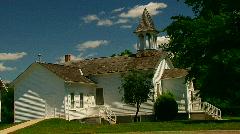 Historic wedding chapel Stock Footage