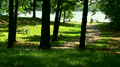 Inline skaters working out in park Stock Footage
