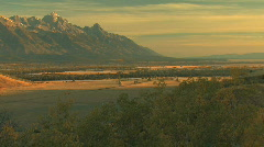 Grand Teton Valley Zoom Out Stock Footage