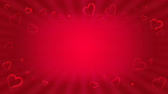 Loopable love animation Stock Footage