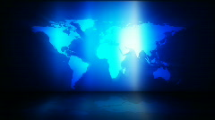 Loopable global business background Stock Footage