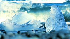 Iceberg Beach Iceland Stock Footage