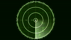 Radar Blip Screen, Digital (24fps) Stock Footage