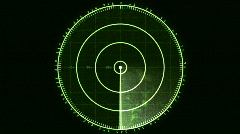 Radar Blip Screen, Analog (30fps) Stock Footage
