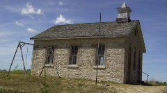 Old stone school house Stock Footage